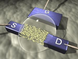 transistor of nanoparticles